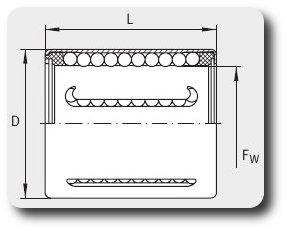 Чертеж линейного подшипника KH12 (или KH1228)