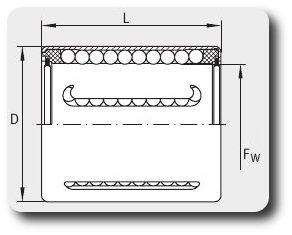 Чертеж линейного подшипника KH12-PP (или KH1228-PP)